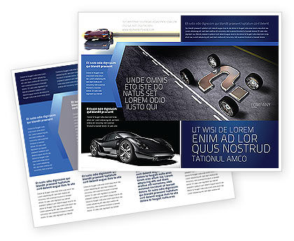 New Automobile Inventions Brochure Template, 04382, Careers/Industry — PoweredTemplate.com