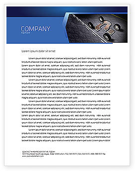 Careers/Industry: New Automobile Inventions Letterhead Template #04382