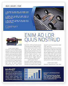 Careers/Industry: New Automobile Inventions Newsletter Template #04382