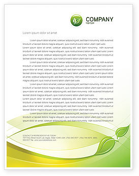 Nature & Environment: Conceived Life Letterhead Template #04383