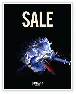 Medical: Cocaine Sale Poster Template #04384