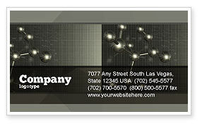 Chemical Composition Business Card Template, 04386, Education & Training — PoweredTemplate.com