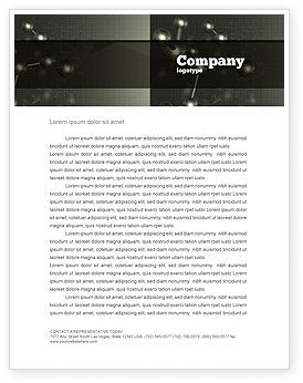 Chemical Composition Letterhead Template, 04386, Education & Training — PoweredTemplate.com