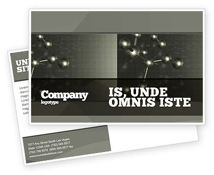 Chemical Composition Postcard Template, 04386, Education & Training — PoweredTemplate.com