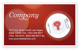 Food & Beverage: Hunger Business Card Template #04387