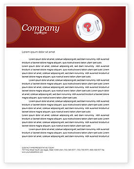 Food & Beverage: Hunger Letterhead Template #04387
