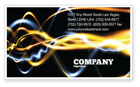 Gas Business Card Template, 04388, Abstract/Textures — PoweredTemplate.com