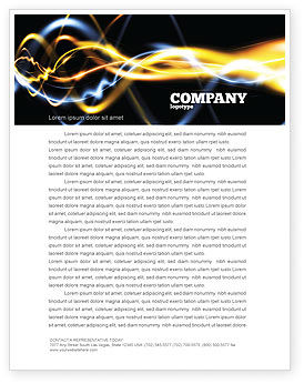 Gas Letterhead Template, 04388, Abstract/Textures — PoweredTemplate.com