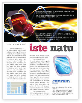 Abstract/Textures: Gas Newsletter Template #04388