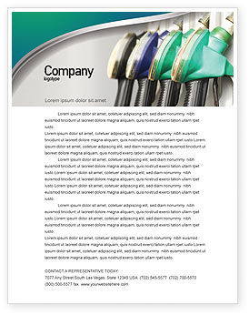 Careers/Industry: Gasoline Letterhead Template #04391