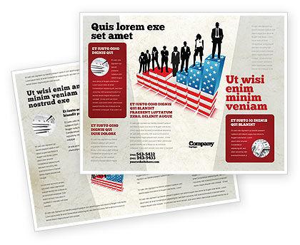 America: Plantilla de folleto - jerarquía social #04393
