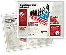 America: Soziale hierachie Broschüren Vorlage #04393