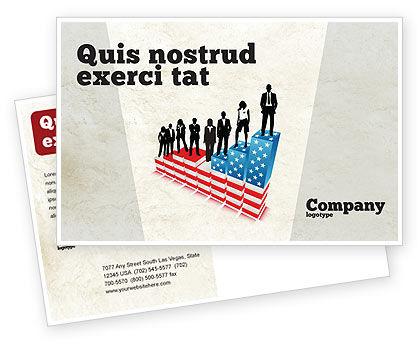 America: Social Hierarchy Postcard Template #04393