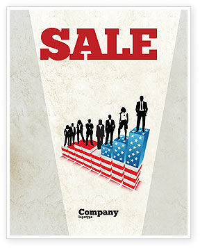 Social Hierarchy Sale Poster Template, 04393, America — PoweredTemplate.com