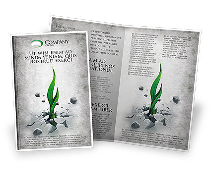 Nature & Environment: Survival Brochure Template #04395