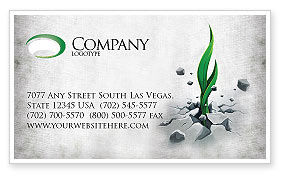 Nature & Environment: Survival Business Card Template #04395