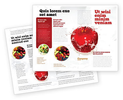 Food & Beverage: Freshness Brochure Template #04397