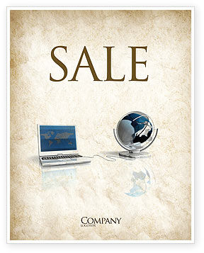 Connect to World Sale Poster Template, 04403, Technology, Science & Computers — PoweredTemplate.com