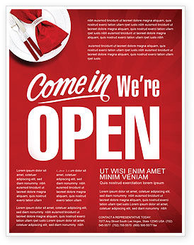 We Are Open Flyer Template, 04405, Careers/Industry — PoweredTemplate.com