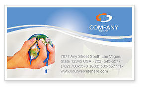 Global: Resource Depletion Business Card Template #04406