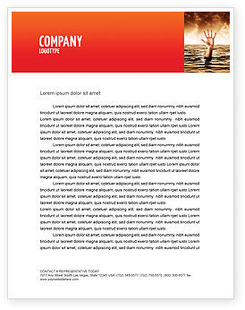 Drowning Letterhead Template