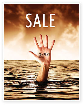 Drowning Sale Poster Template