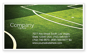 Football Duel Business Card Template, 04410, Sports — PoweredTemplate.com