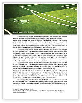 Sports: Football Duel Letterhead Template #04410