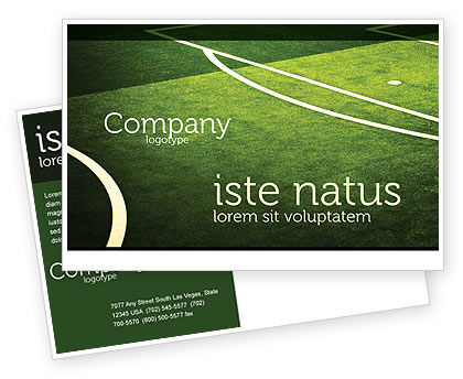 Sports: Football Duel Postcard Template #04410