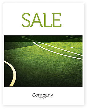 Football Duel Sale Poster Template, 04410, Sports — PoweredTemplate.com