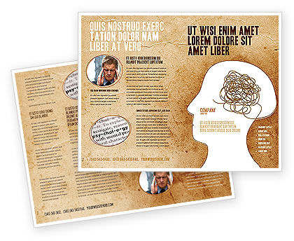 Business Concepts: Twisted Mind Brochure Template #04412
