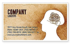 Twisted Mind Business Card Template, 04412, Business Concepts — PoweredTemplate.com