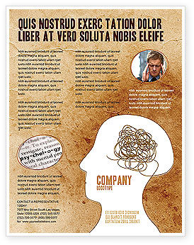 Twisted Mind Flyer Template, 04412, Business Concepts — PoweredTemplate.com
