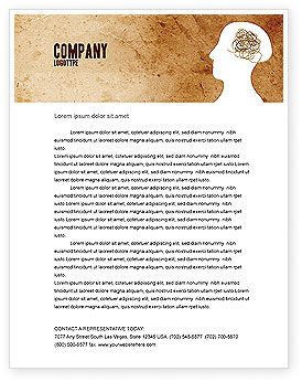 Business Concepts: Twisted Mind Letterhead Template #04412