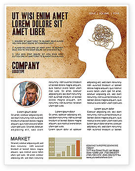 Twisted Mind Newsletter Template, 04412, Business Concepts — PoweredTemplate.com