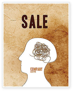 Twisted Mind Sale Poster Template, 04412, Business Concepts — PoweredTemplate.com