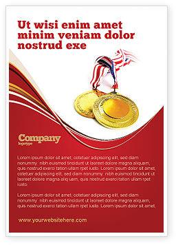 Sports: メダル - 広告テンプレート #04414