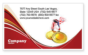 Sports: Medal Business Card Template #04414