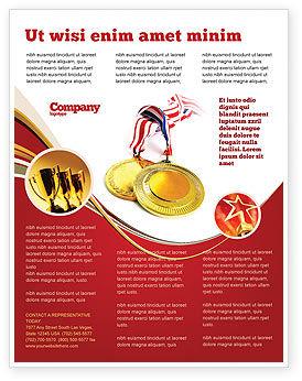 Medal Flyer Template, 04414, Sports — PoweredTemplate.com