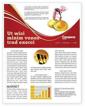 Sports: Medal Newsletter Template #04414