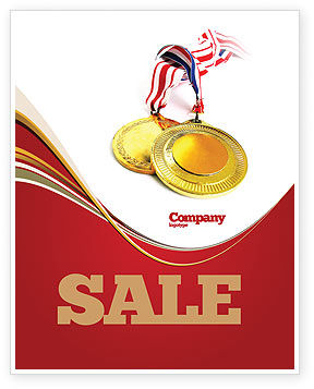 Medal Sale Poster Template, 04414, Sports — PoweredTemplate.com