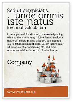 Construction: Plantilla de publicidad - castillo #04419