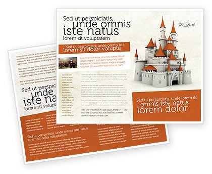Castle Brochure Template, 04419, Construction — PoweredTemplate.com