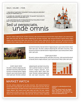 Construction: Castle Newsletter Template #04419