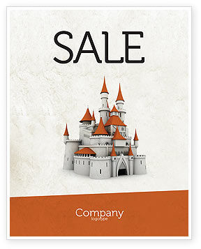Castle Sale Poster Template, 04419, Construction — PoweredTemplate.com