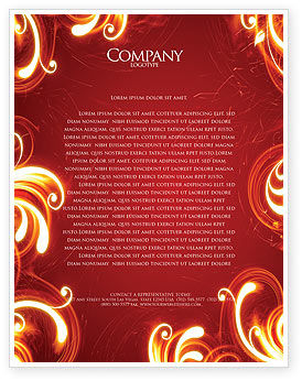 Flame Frame Letterhead Template, 04420, Abstract/Textures — PoweredTemplate.com