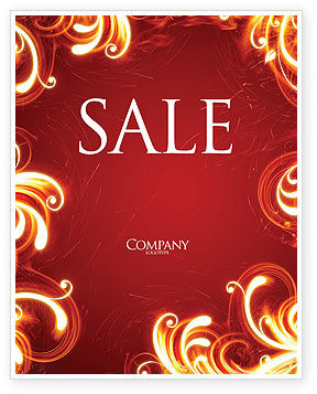 Abstract/Textures: Flame Frame Sale Poster Template #04420
