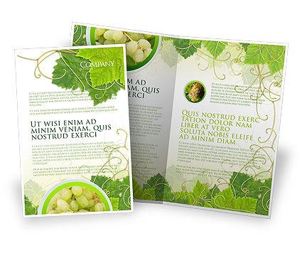 Grape Leaves Ornament Brochure Template, 04421, Nature & Environment — PoweredTemplate.com