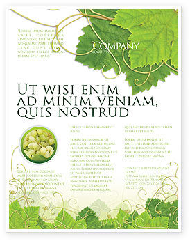 Nature & Environment: Grape Leaves Ornament Flyer Template #04421