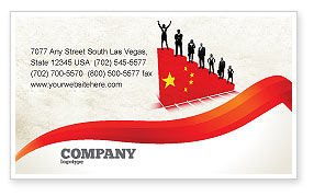 Careers/Industry: Chinese Economy Business Card Template #04423